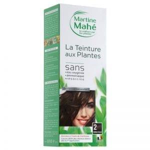 Teinture aux plantes chatain foncé, couvre 100% des cheveux blanc