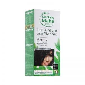 Teinture aux plantes teinte noire, couvre 100% des cheveux blanc
