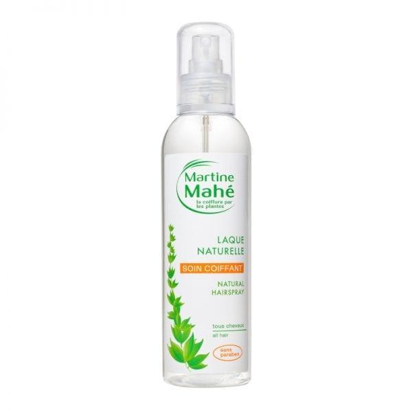 Laque naturelle permettant un effet coiffé décoiffé se retire en un coup de brosse Martine Mahé